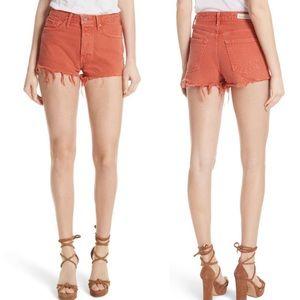 GRLFRND Cindy Rigid High Waist Distressed Shorts